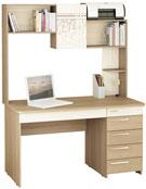 Недорогие офисные и письменные столы с надстройкой